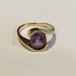 Beautiful Faceted Amethyst Ring